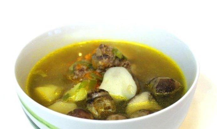 Суп с грибами и фрикадельками пошаговый рецепт с