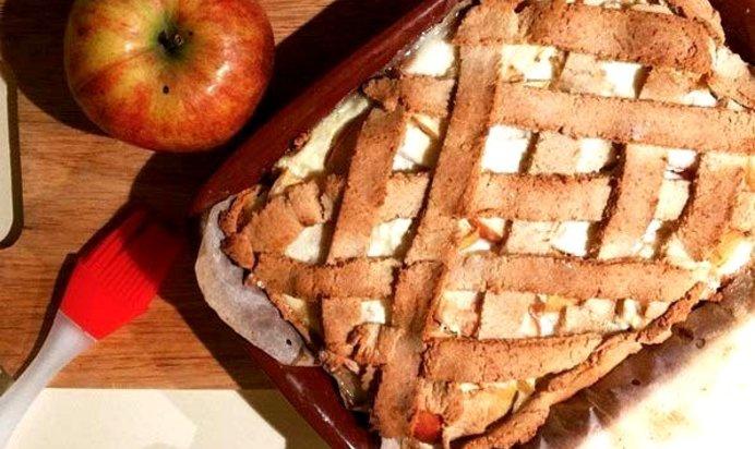 Диетический яблочный пирог рецепт с фото пошагово в духовке