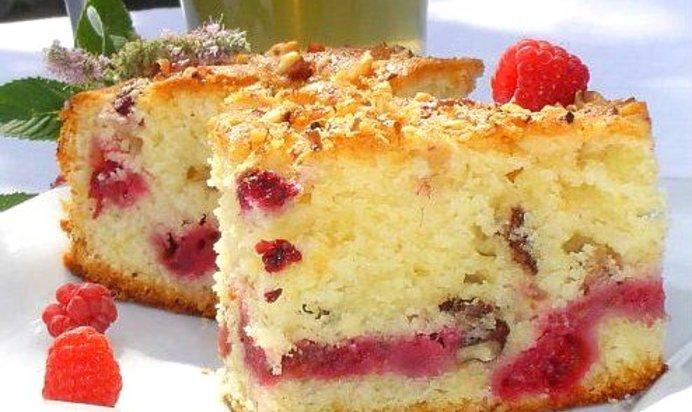 Пирог малиновый в мультиварке рецепты с фото