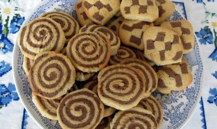 Песочное печенье шоколадное рецепт пошагово в