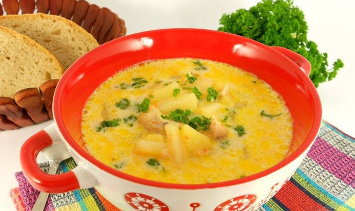 Рецепт сырного супа с курицей с фото пошаговый