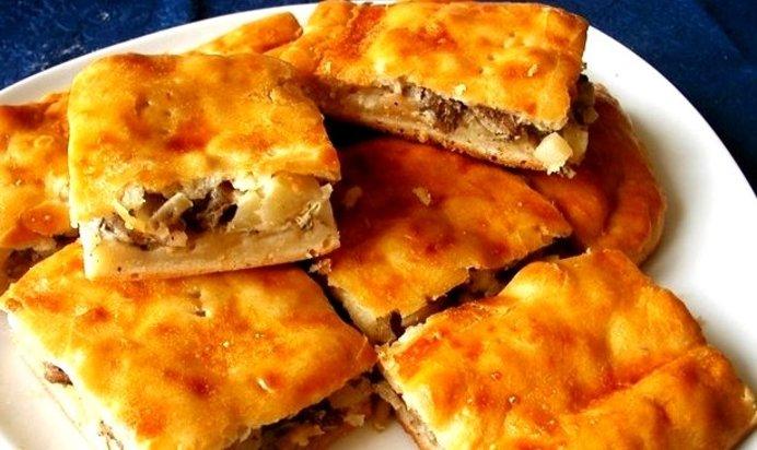 Пирог с сайрой и картошкой рецепт с на сметане с майонезом