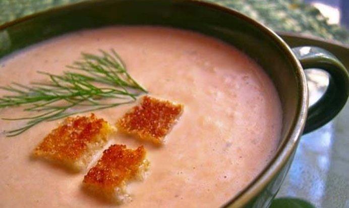 Рецепт крема супа из лосося