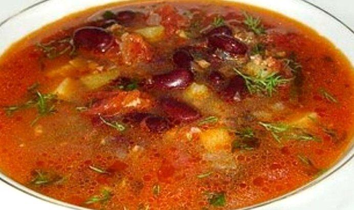 Рецепт фасолевого супа пошагово с фото