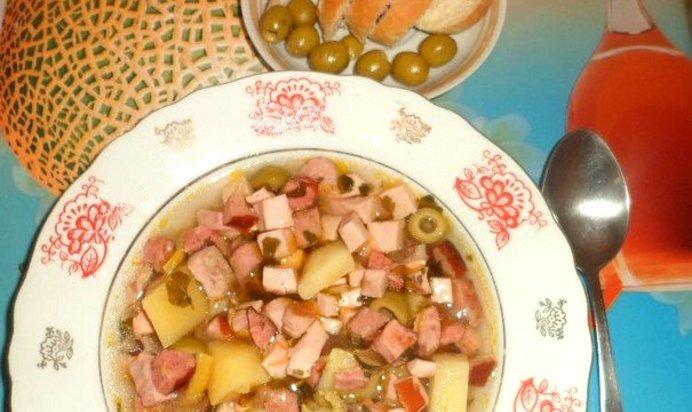 Суп с колбасой рецепт с фото пошаговый рецепт