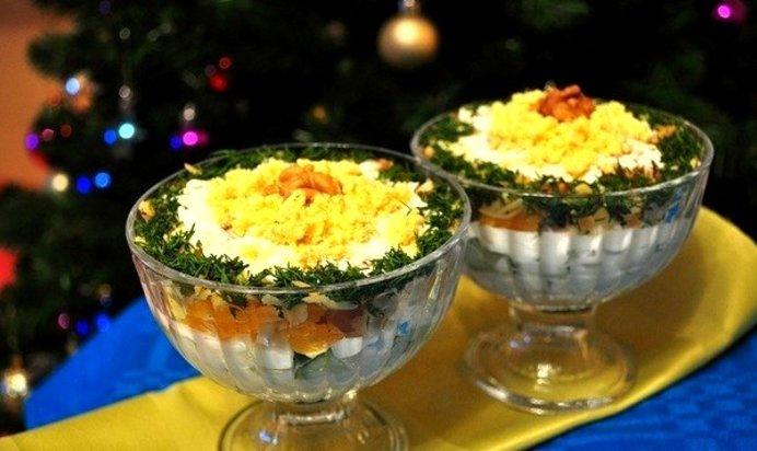 Рецепты салатов с в креманках рецепты