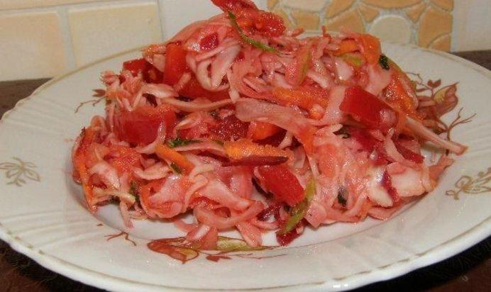 Салат с морковью и капустой рецепт с пошагово