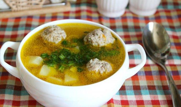суп с фрикадельками в мультиварке пошаговый рецепт с фото с вермишелью