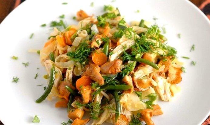 Салат лисичка пошаговый рецепт с