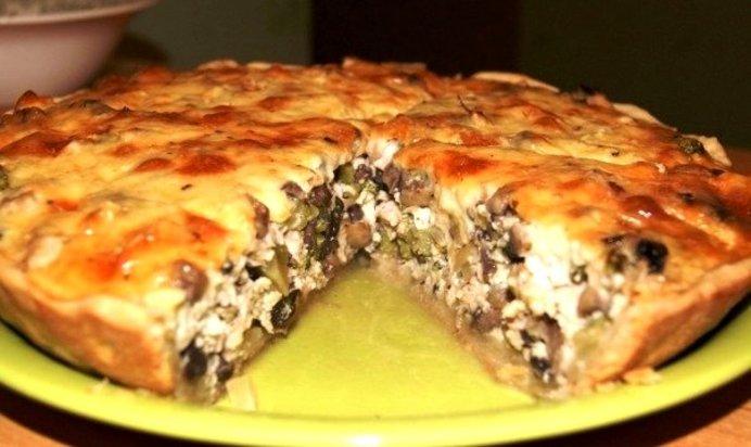 Пирог с грибами рецепты