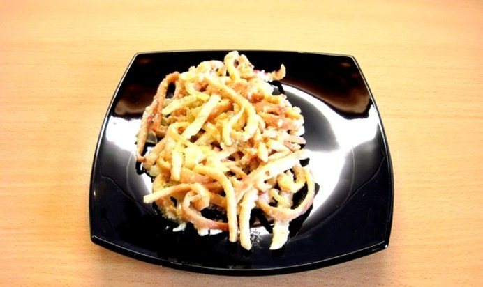 Кальмары жареные с луком и сметаной рецепт с пошагово