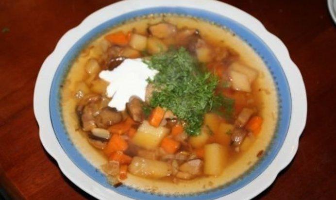 Суп с белыми грибами рецепт пошаговый с фото