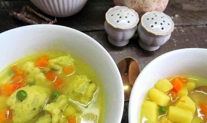 Суп с клёцками на манке пошаговый рецепт
