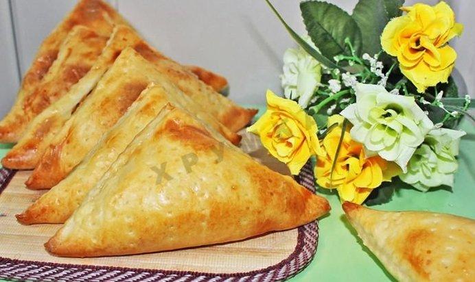 Хачапури с сыром творогом рецепт из слоеного теста