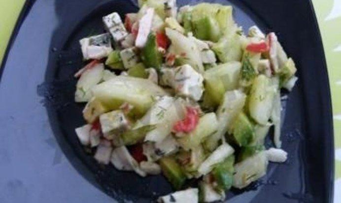 Салат из крабовых палочек рецепт с огурцом очень вкусный