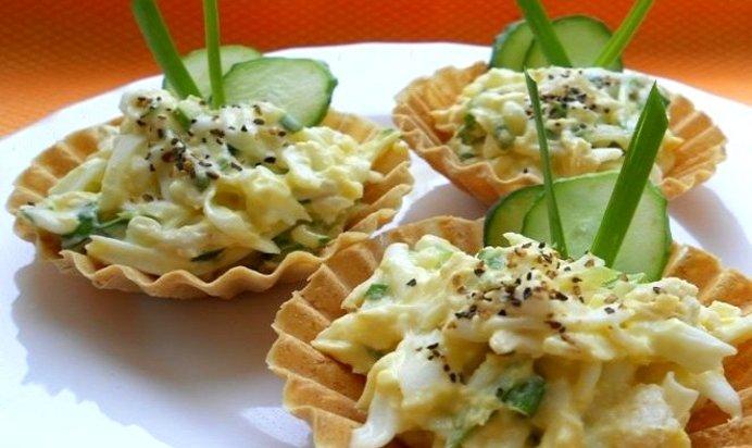Рецепт тарталетки с курицей и ананасом