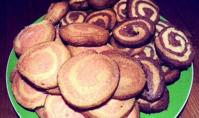 двухцветное печенье рецепт с фото