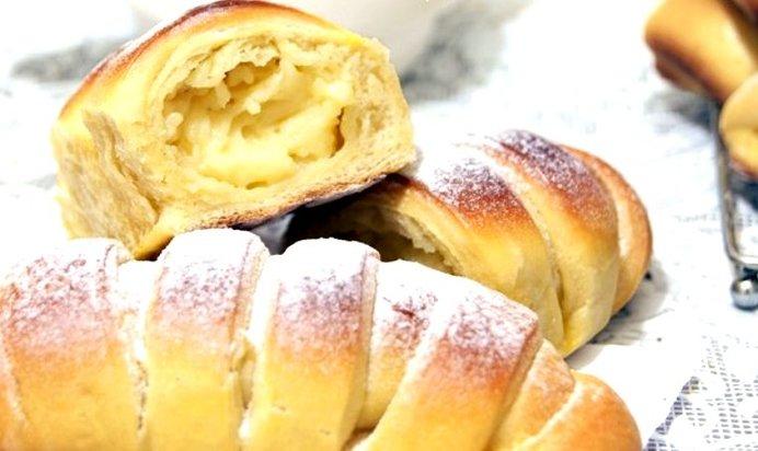 Французские булочки с кремом рецепт с пошагово