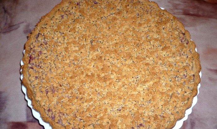Постный тёртый пирог с вареньем рецепт