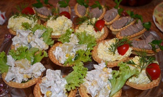 Простой рецепт салатов в тарталетках с