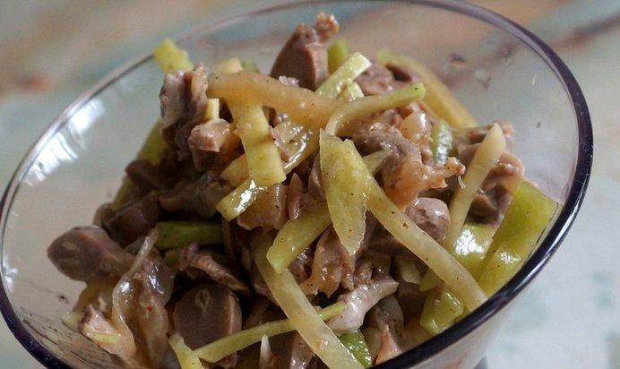 Салат с желудков по-корейски рецепт