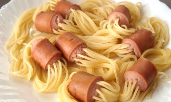 Макароны с колбасой в духовке рецепт с пошагово