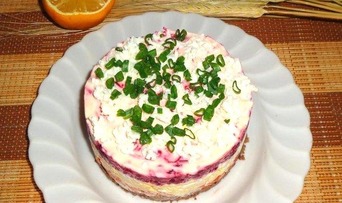 Слоёные салаты рецепты пошагово