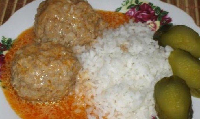 Тефтели с рисом с подливкой рецепт с пошагово как в детском саду