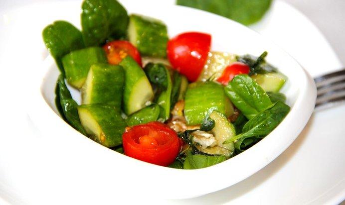 Шпинат салат рецепты с простые и вкусные