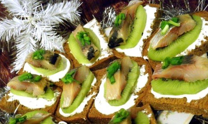 Селедка канапе рецепты простые и вкусные