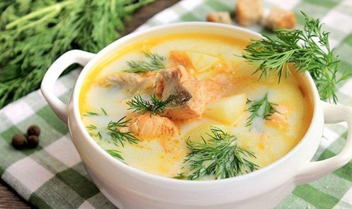 Рецепт рыбного супа из форели со сливками