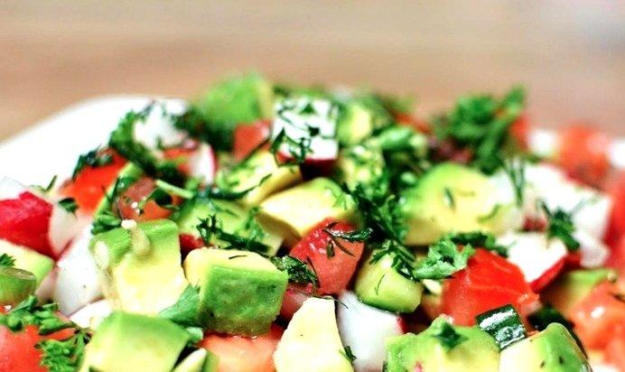 Простой салат из авокадо рецепт очень вкусный