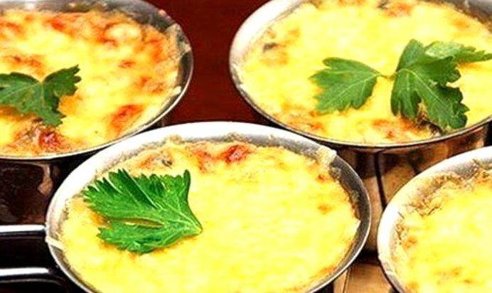 Рецепт жульена с грибами и сыром пошаговый с