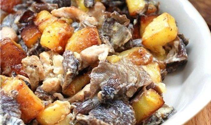 Жареные грибы пошаговый фото рецепт