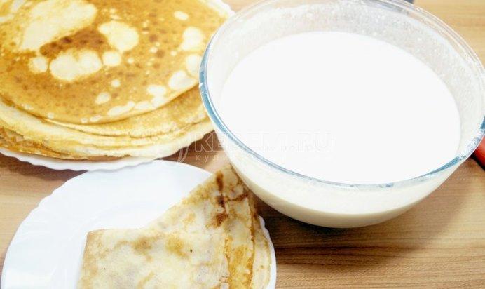 тесто для блинов на молоке с фото