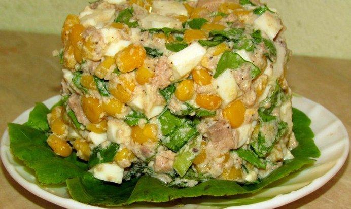 Салат с кукурузой рецепт очень