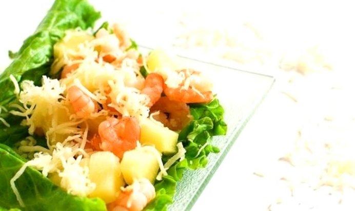 Салат креветки ананасы рецепт с пошагово в