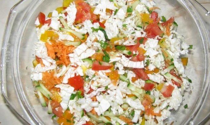 Легкий салат из китайской капусты рецепт с