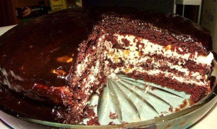 Торт прага рецепт с фото в домашних условиях со сметаной