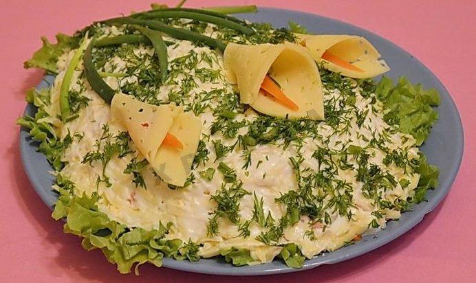 Рецепты салата с калами фото