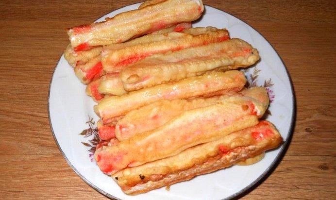 Рецепт крабовые палочки в кляре домашних условиях рецепт с пошагово