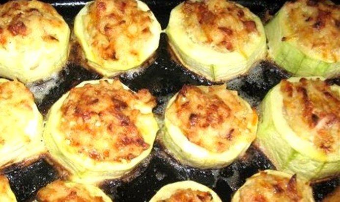 Кабачки с сыром и фаршем в духовке рецепт пошаговый