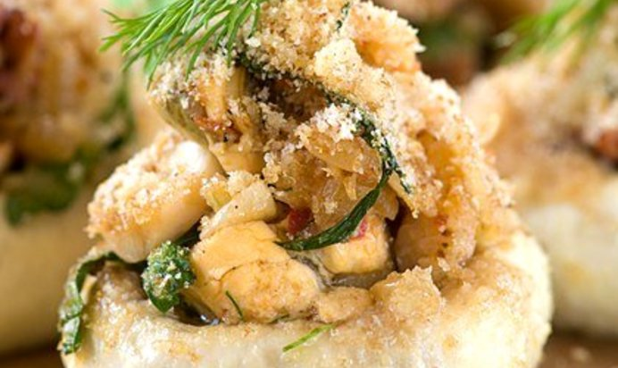Рецепт фаршированные грибы с мясом