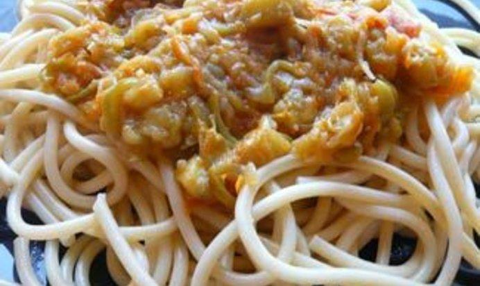 Овощной соус к спагетти рецепт