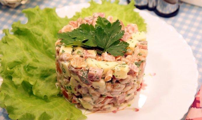 Рецепт салата обжорка классический с фото