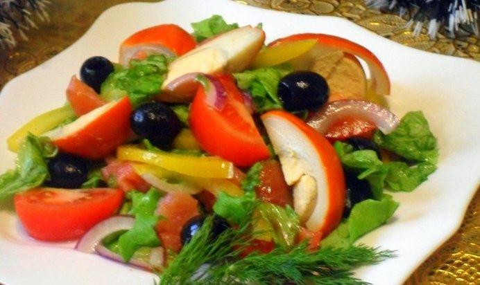 Салат с семгой копченой рецепт с