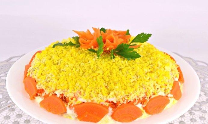 Салат мимоза с сыром без картошки рецепт