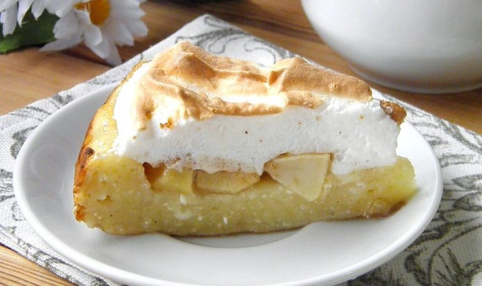 Пирог из творожного теста с яблоками рецепт с пошагово в духовке