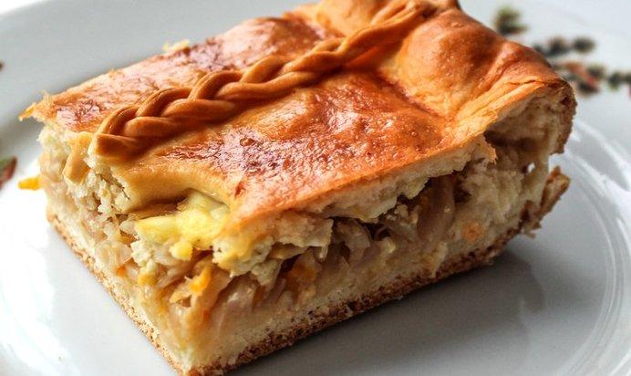 Пирог с луком пореем и яйцом рецепт с