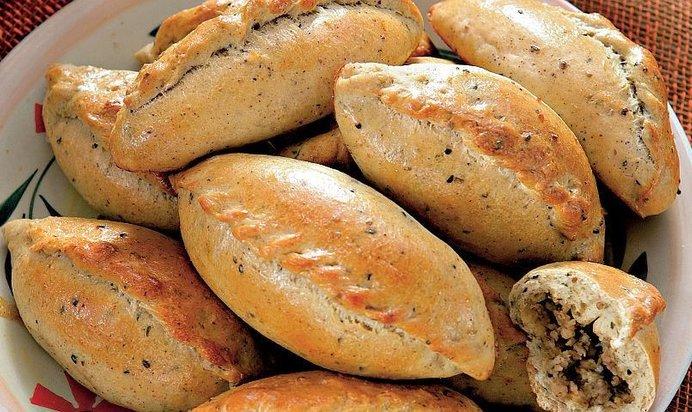 Пирожки с мясом рецепт с пошаговый на сковороде